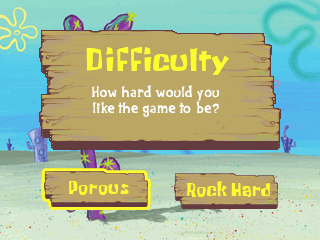 SpongeBob Difficulty Select