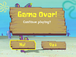 SpongeBob Game Over