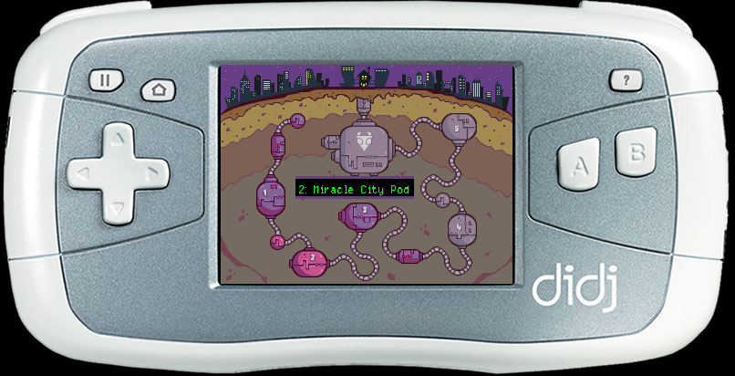 Invader Zim menu map screen